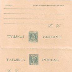 Sellos: ENTERO POSTAL DOBLE PUERTO RICO 1898 ALFONSO XIII NUEVO. Lote 277219488