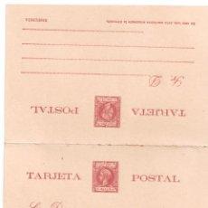 Sellos: ENTERO POSTAL DOBLE ALFONSO XIII PUERTO RICO 1898. Lote 277299303