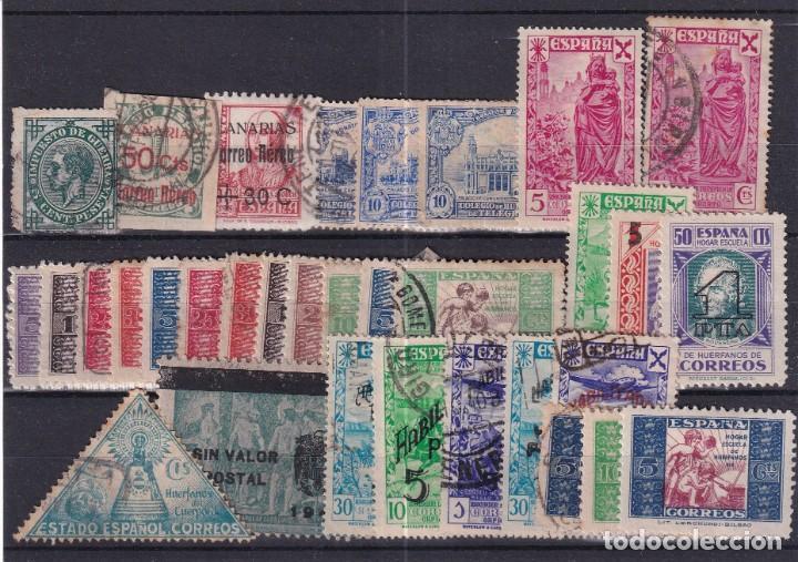 SELLOS ESPAÑA OFERTA AÑO 1939 BENEFICIENCIA FICHA LLENA DE SELLOS USADO (Sellos - España - Dependencias Postales - Beneficencia)