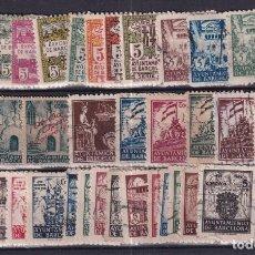 Sellos: SELLOS ESPAÑA OFERTA AÑO 1939 BARCELONA FICHA LLENA DE SELLOS USADO. Lote 286446423