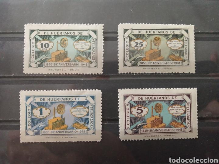 ESPAÑA. 1943. COLEGIO HUÉRFANOS TELÉGRAFOS. NUEVOS ** (Sellos - España - Dependencias Postales - Beneficencia)