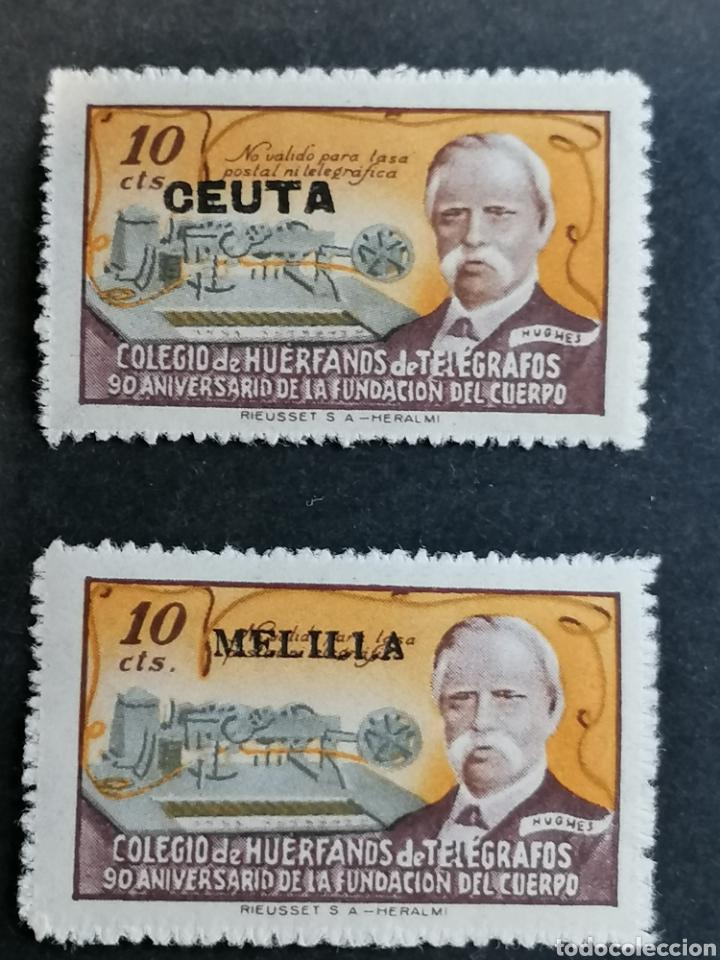 Sellos: España Sellos Beneficiencia Telégrafos Melilla Ceuta - Foto 2 - 287758413