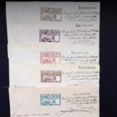 Sellos: ESPAÑA.AÑO 1897.FISCALES .MUESTRA Nº 0.000.000.. Lote 295733058