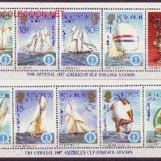 Sellos: SALOMON 554/603*** - AÑO 1986 - COPA DE AMERICA DE VELA 1987. Lote 11302099