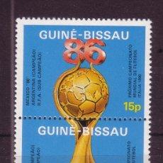 Sellos: GUINEA BISSAU 393/94*** - AÑO 1986 - CAMPEONATO DEL MUNDO DE FÚTBOL DE MEXICO. Lote 25822606