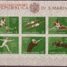 Sellos: SAN MARINO HB 10*** - AÑO 1960 - JUEGOS OLÍMPICOS DE ROMA. Lote 7256670