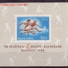 Sellos: HUNGRIA HB 60*** SIN DENTAR- AÑO 1966 - CAMPEONATO DE EUROPA DE ATLETISMO. Lote 12608620