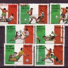 Sellos: GUINEA BISSAU 482/88 - AÑO 1989 - COPA DEL MUNDO DE FÚTBOL EN ITALIA. Lote 1795870