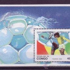 Sellos: CONGO HB 57*** - AÑO 1993 - CAMPEONATO DEL MUNDO DE FUTBOL DE ESTADOS UNIDOS. Lote 24344342
