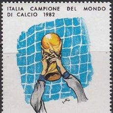 Sellos: ITALIA IVERT Nº 1542, ITALIA CAMPEÓ DEL MUNDO DE FUTBOL EN ESPAÑA 1982, NUEVO. Lote 23644032