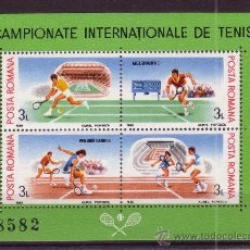 Sellos: RUMANIA HB 196A*** - AÑO 1988 - CAMPEONATOS INTERNACIONALES DE TENIS. Lote 15286917