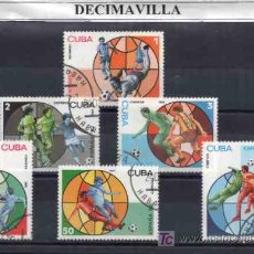 Sellos: DEPORTES, FUTBOL, CUBA, 1981, L193 SERIE COMPLETA USADA. Lote 17641163