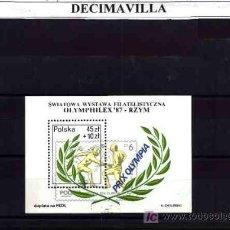 Sellos: DEPORTES, POLONIA, 1987, L167, HOJA-BLOQUE USADA. Lote 17641799