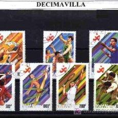 Sellos: DEPORTES, VIETNAM, 1990, L123, SERIE COMPLETA USADA . Lote 17656264