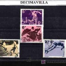 Sellos: DEPORTES, POLONIA, 1983, L104, SERIE USADA Y COMPLETA . Lote 17740716