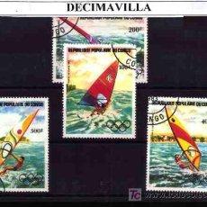 Sellos: DEPORTES, CONGO, 1983, L043, SERIE USADA Y COMPLETA . Lote 17890276