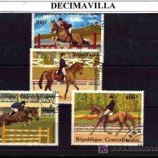 Sellos: DEPORTES, CENTROAFRICA, 1983, L033, SERIE USADA Y COMPLETA . Lote 17890515