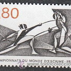 Sellos: FRANCIA IVERT Nº 2147, CAMPEONATO DEL MUNDO DE ESGRIMA, NUEVO. Lote 17862506