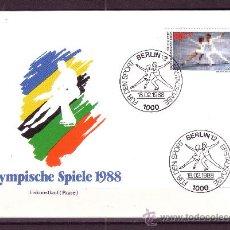 Sellos: BERLIN SPD 763 - AÑO 1988 - JUEGOS OLIMPICOS DE INVIERNO DE CALGARY - PATINAJE ARTISTICO. Lote 19093653