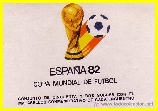 1982 ESPAÑA COPA MUNDIAL DE FÚTBOL, ESPAÑA 52 SOBRES CON MAT. CONMEMORATIVO ENCUENTROS (Sellos - Temáticas - Deportes)