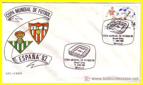 Sellos: 1982 España Copa Mundial de Fútbol, ESPAÑA 52 sobres con mat. conmemorativo encuentros - Foto 2 - 19958984