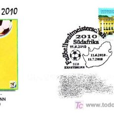 Sellos: MATASELLOS DE FUTBOL - MUNDIAL SUDAFRICA 2010. ERNSTBRUNN, AUSTRIA. Lote 21126430