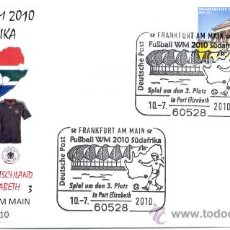 Sellos: ALEMANIA 2010. MATASELLO ESPECIAL. PARTIDO PARA EL TERCER PUERTO. COMPA DEL MUNDO FUTBOL SUDAFRICA.. Lote 20906097