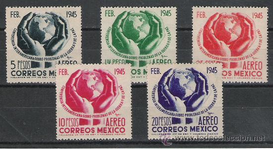 TEMA DEPORTES SERIE Nº 134A/138A DE MEXICO (Sellos - Temáticas - Deportes)