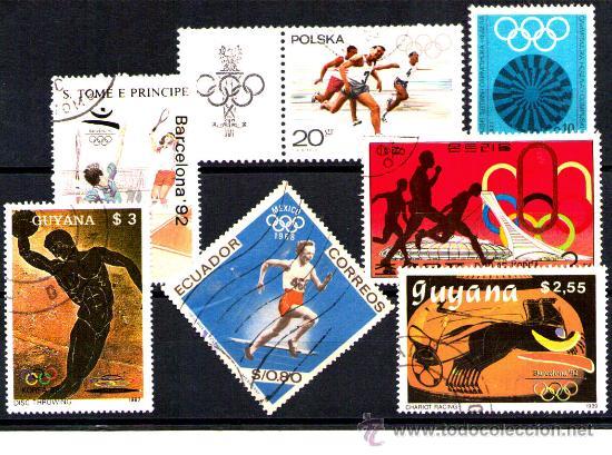LOTE SELLOS -TEMATICA OLIMPIADAS / DEPORTES / OLIMPICOS (AHORRA COMPRANDO MAS SELLO (Sellos - Temáticas - Deportes)