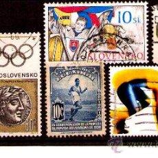 Sellos: LOTE SELLOS -TEMATICA OLIMPIADAS / DEPORTES / OLIMPICOS (AHORRA COMPRANDO MAS SELLO. Lote 22442063