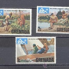 Sellos: GRENADA, WORLD JAMBOREE, SELLOS NUEVOS CON GOMA. Lote 24880658