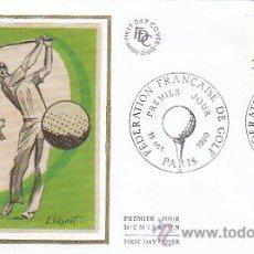 Sellos: FRANCIA, FEDERACIÓN FRANCESA DE GOLF, PRIMER DIA DE 18-10-1980 (SEDA). Lote 25814909