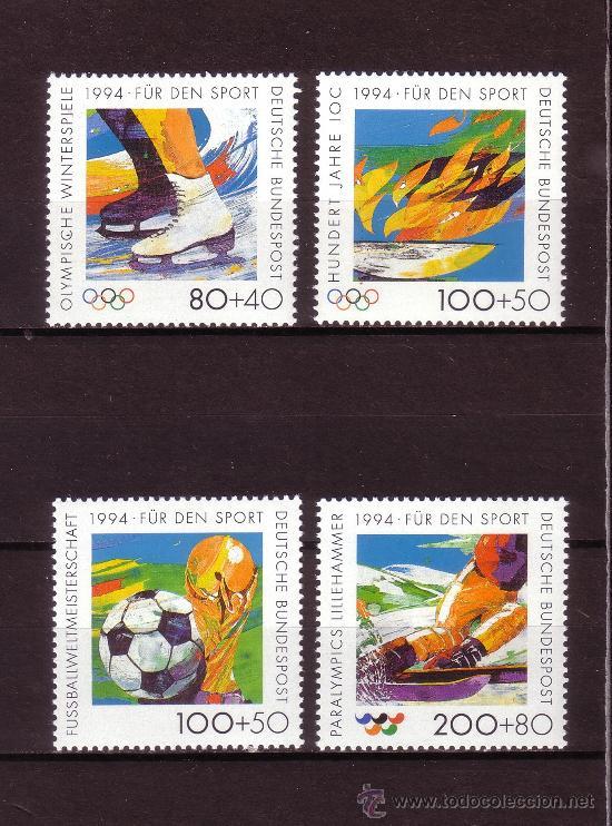ALEMANIA 1545/48** - AÑO 1994 - ACONTECIMIENTOS DEPORTIVOS - JUEGOS OLIMPICOS DE INVIERNO - FUTBOL (Sellos - Temáticas - Deportes)