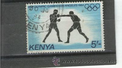 SELLOS.DEPORTES.LUCHA. BOXEO.BOXA. KENYA.RARO.JUEGOS OLIMPICOS. (Sellos - Temáticas - Deportes)