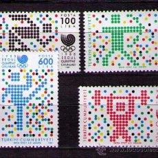 Sellos: TURQUIA 1988 - JUEGOS OLIMPICOS DE SEUL - YVERT Nº 2573-2576. Lote 30073332