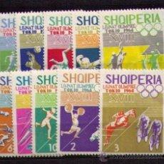 Selos: ALBANIA 1964 - JJOO DE TOKIO - YVERT 707-716. Lote 30078102