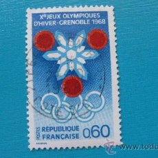 Sellos: 1967 FRANCIA, JUEGOS DE INVIERNO DE GRENOBLE, YVERT 1520. Lote 30664288