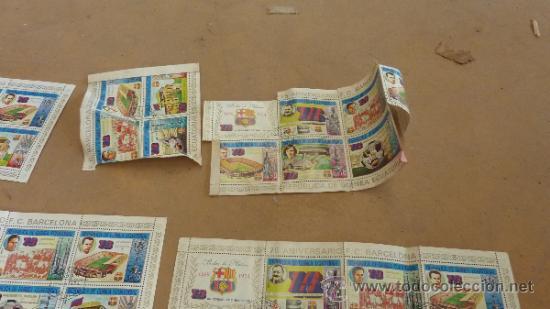 Sellos: Lote de 18 hojas sellos del 75 aniversario Futbol Club Barcelona. Barça. FCB. Originales. - Foto 6 - 31074101