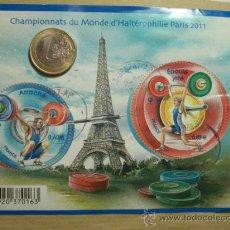 Sellos: FRANCIA BLOQUE CAMPEONATO HALTEROFILIA PARIS AÑO 2011 - CIRCULADO DEPORTE. Lote 31622852