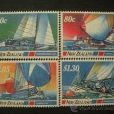 Sellos: NUEVA ZELANDA 1987 IVERT 950/3 *** DEPORTES NAUTICOS - BARCOS DE VELA. Lote 32074855