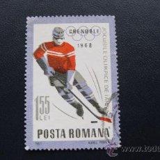 Sellos: 1967 RUMANIA, JUEGOS OLIMPICOS DE INVIERNO DE GRENOBLE, YVERT 2333. Lote 32231221