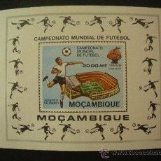 Sellos: MOZAMBIQUE 1981 HB IVERT 8A *** CAMPEONATO DEL MUNDO DE FUTBOL EN BARCELONA - DEPORTES. Lote 32441130