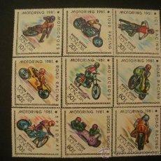 Sellos: MONGOLIA 1981 IVERT 1097/105 *** MOTOCICLISMO - DEPORTES - MOTOS. Lote 34362465