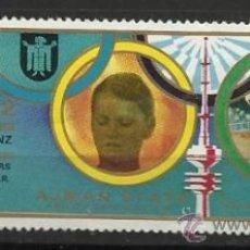 Sellos: GIMNASIA USADO PARALELAS AJMAN 1972 JUEGOS OLIMPICOS MUNICH 1972 GANADORA K.JANZ . Lote 34372381