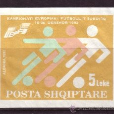 Sellos: ALBANIA HB 71* - AÑO 1992 - CAMPEONATO DE EUROPA DE FUTBOL DE SUECIA. Lote 228367260