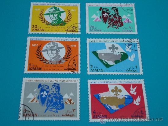 Sellos: COLECCION 12º JAMBOREE SCOUT MUNDIAL 1967 IDAHO USA BOYSCOUTS, AJMAN SERIE COMPLETA - Foto 2 - 34453067