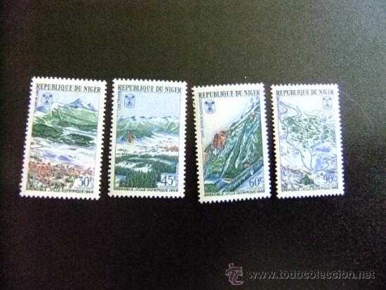 NIGER AÑO 1968 YV 193 -196 ** MNH OLIMPIADAS GRENOBLE (Sellos - Temáticas - Deportes)
