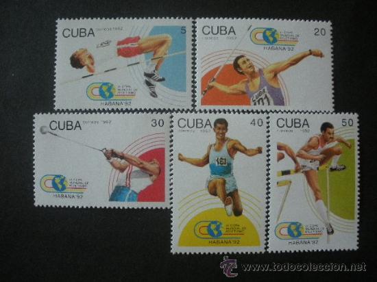 CUBA 1992 IVERT 3238/42 *** CAMPEONATO DEL MUNDO DE ATLETISMO - DEPORTES (Sellos - Temáticas - Deportes)