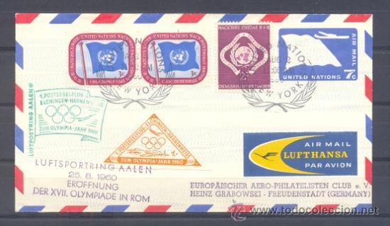1960.- NACIONES UNIDAS A ALEMANIA (Sellos - Temáticas - Deportes)