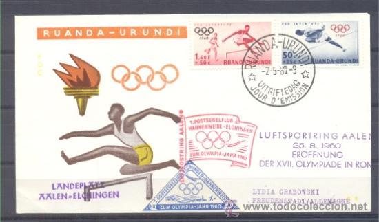 1960.- RUANDA-URUNDI A ALEMANIA (Sellos - Temáticas - Deportes)